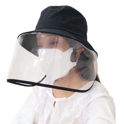 Unisex Anti-saliva Fisherman Hat Fashion Foldable Protective Visor Cap