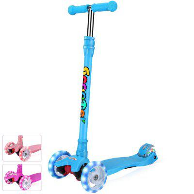 Kick Scooter for Kids Girls or Boys 4 Adjustable Height PU Flashing Wheels for Children Ages 3-14