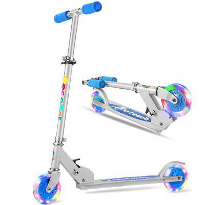 Folding Kick Scooter for Girls Boys Safety Certified 3 Adjustable Height Light Up Wheels for Kids