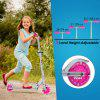 Folding 2 Wheel Kids Scooter 3 Adjustable Height LED Light Up Wheels Kick Scooter For Ages 4-14