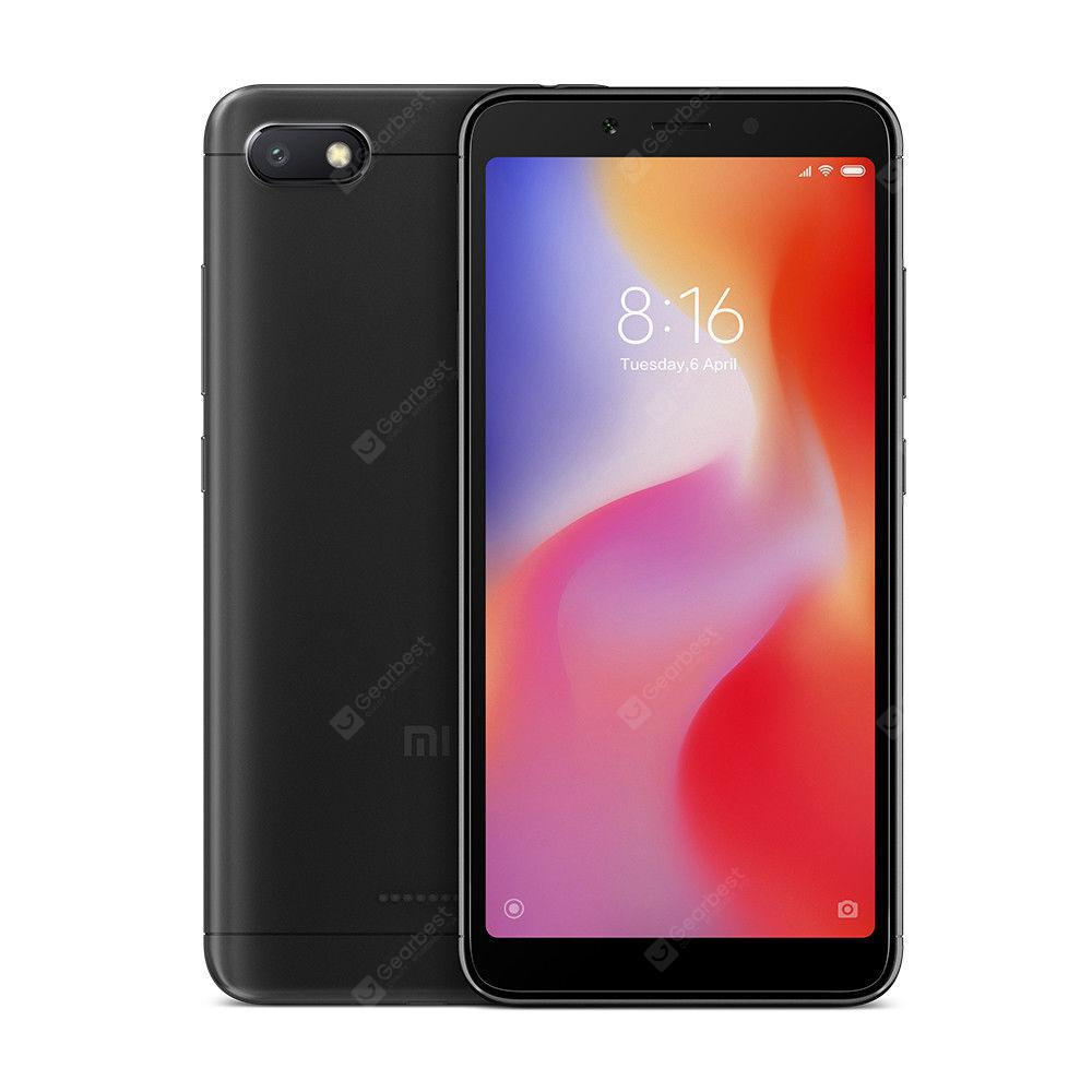 Xiaomi Redmi 6A Smartphone 4G Smartphone Global Version 2GB RAM 16GB ROM 13MP Rear Camera - Black