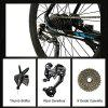 LANKELEISI T8 26 Inches Cool E Bike 9 Speeds Oil Disc Brakes Pedal  Electric Bike