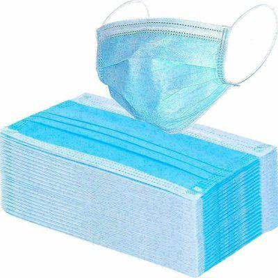 Surgical Face Mask Disposable Flu Virus Dental Hygiene Protect Mouth 3 Ply