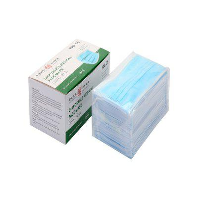 50Pcs Box Package Disposable Medical Surgical Face Mask Flu Virus Hygiene Mask 3 Ply