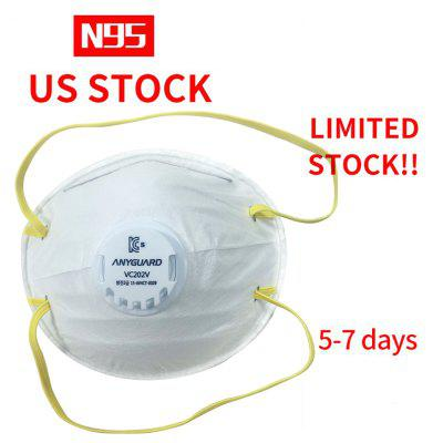 ANYGUARD 10Pcs N95 Valve Mask KC Approved South Korea Brand Non-Medical