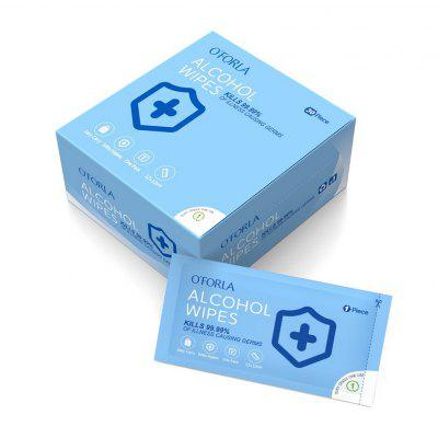 One Box with 30Pcs Alcohol Wipes Wet Wipes Safety Hygiene Reduce Bacteria Infection One Day Shipping 5-7 Day Delivery