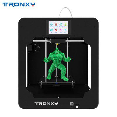 Tronxy C2 color touch screen intelligent 3D printer eu plug support TF card and USB portable printer