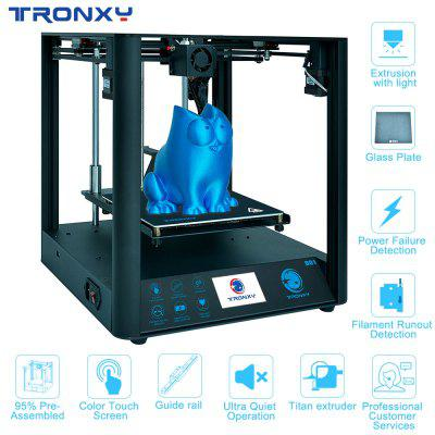 Tronxy Industrial Linear Guides D01 3D Printer Ultra-quiet Motherboard can print Flexible filament