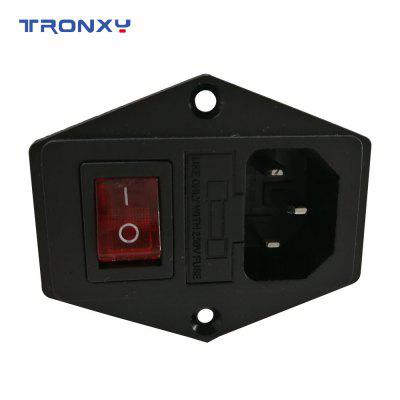 Tronxy 3D Printer Accessory Parts 3 pin Power Supply Socket 250V 10A with Fuse Holder free shipping