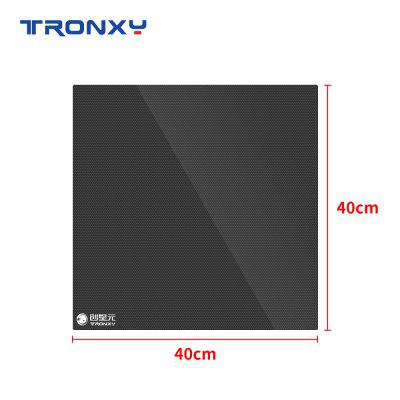 Tronxy 3D printer parts glass plate 400 X 400mm hot bed lattice glass hot bed plate built-in 3D printing