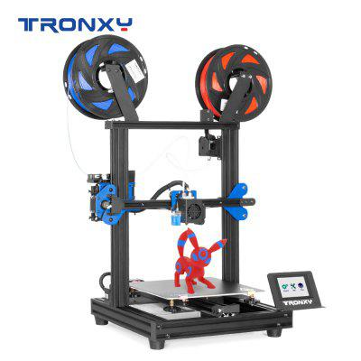 Tronxy XY-2PRO-2E Print Size 255X255X245MM 3D Printer Dual Extruder High Precision Touch Screen DIY Can Face