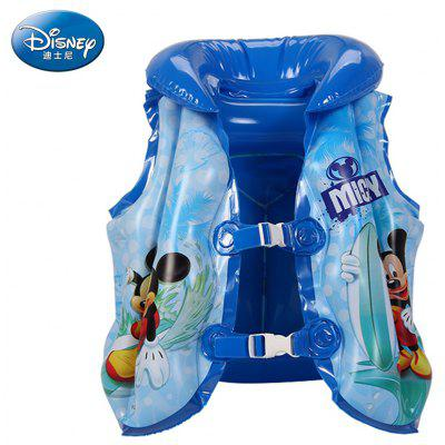 Disney Kids Inflatable Swimming Suit PVC Float Jacket Blue Red Swimming Aid for Water Sports Summer
