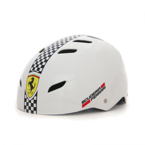 MESUCA Ferrari Helmet Adjustable Strap Sports head protect-Lg Adult kids RED