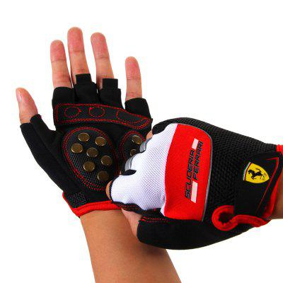 Ferrari Unisex Half Finger Gloves Fingerless Skate Bicycle Cycling Gym Sports Size L