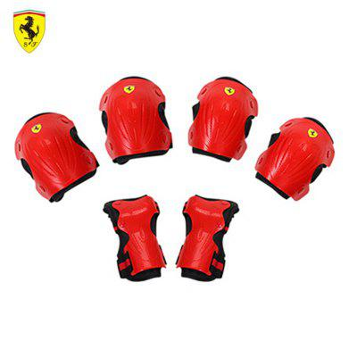 Ferrari 6pcs Skate Protector Set FAP16 Knee Elbow Pads Wrist Protection for Cycling Roller Skating L