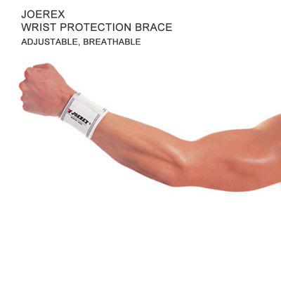 Joerex Wristband Wrist Protection Brace for Men Weight Lifting Gym Training Bodybuilding Beige 0483
