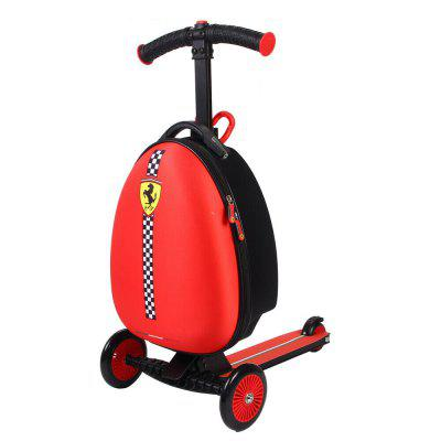 Mesuca FXA45 Ferrari Luggage Scooter for Kids Multifunctional Scooter Suitcase for Travel School Red