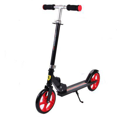 Mesuca FXA201 Ferrari Aluminum Alloy Kick Scooter Adjustable Height for Men Adults Black