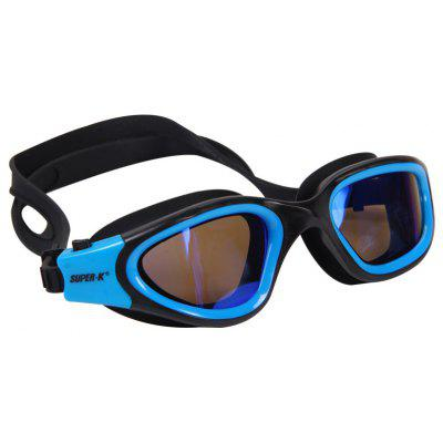 Mesuca Super-k Anti-fog UV Swimming Glasses Goggles Silicone for Men with Ear Plugs Nose Clip