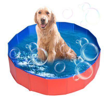Home Outdoor Folding Pet Pool Swimming Cat Dog Cooling Portable Tough