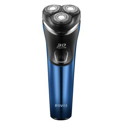Povos Rechargeable Electric Shavers Independent Floating Triple Blade Shaving Hair for Men PW828