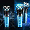 POVOS Rechargeable Electric Shaver for Men Shaving USB Charge Razor Triple Blades Waterproof PW826S