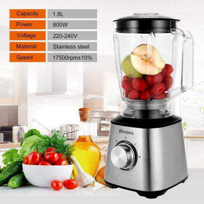 Multi-functional 1.8L Electric Mixer Plastic Jar Brushed Stainless Steel 800W