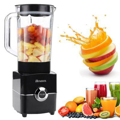 Homdox Plus 1.5L Blender Machine 2 Speed Control Hard Glass Container