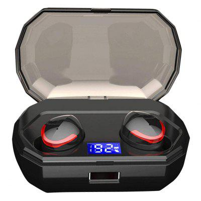 TWS Wireless Bluetooth 5.0 IPX7 Earbuds with LED touch with charging case 2000mAh Headphone