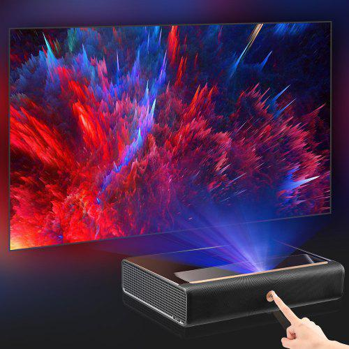 Xiaomi Ecosystem WEMAX L1668FCF 4K Ultra Short Throw Proiettore Laser TV Home Theater-- Specchio nero