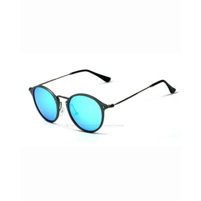 VEITHDIA Round Unisex Sun Glasses Polarized Coating Mirror Sunglasses Eyewear For Men Women 6358