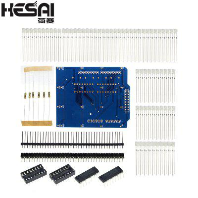 HESAI 4X4X4 Blue LED Light Cube Kit 3D LED DIY Kit Electronic Suite for school education lab
