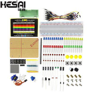 HESAI 830 Breadboard Electronic DIY Kit Electronic Parts Pack Package for arduino DIY KIT