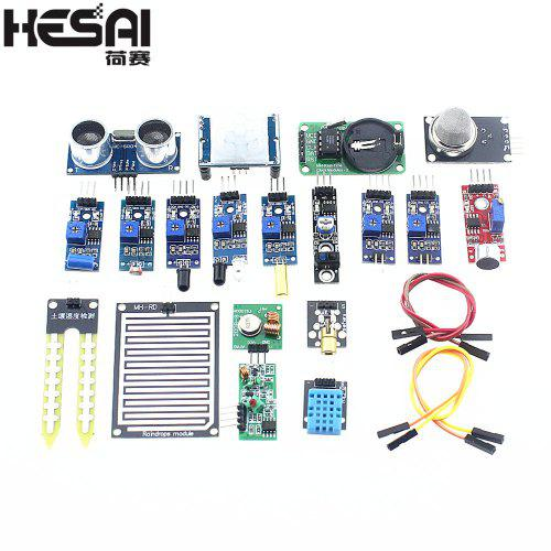 HESAI 16pcs lot Raspberry Pi 3 Raspberry Pi 2 Model B The Sensor Module Package 16 Kinds of Sensor za $9.39 / ~35zł