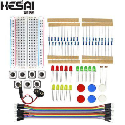 HESAI Smart Electronics Starter Kit For arduino uno r3 mini Breadboard LED jumper wire button