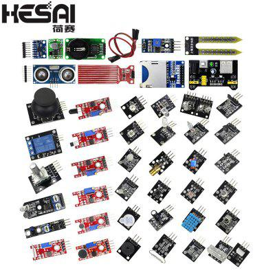 HESAI Smart Electronics Modules de capteurs 45 en 1 Meilleur pour arduino Raspberry pi Diy Kit
