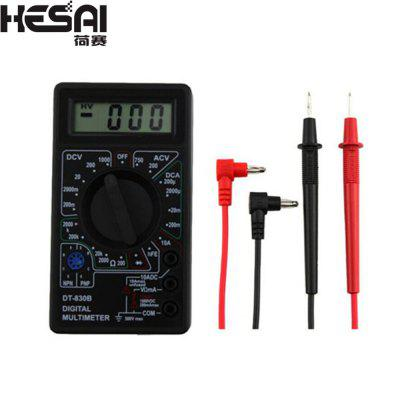 HESAI DT-830B Digital Multimeter Professional Electronic Tester LCD Display  Ohm Tester Meter