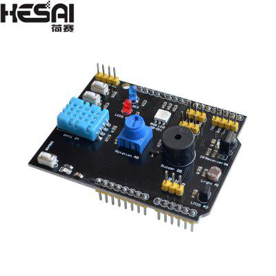 HESAI 9 in 1 multi-function extension board DHT11 temperature and humidity LM35 temperature buzzer