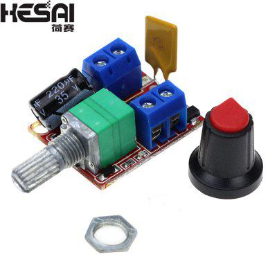 HESAI Mini DC Motor PWM Speed Controller 3V-35V Speed Control Switch LED Dimmer 5A