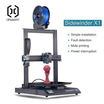 Artillery Sidewinder-X1 High Precision Large Plus Size SW-X1 3d printer Dual Z axis TFT Touch Screen