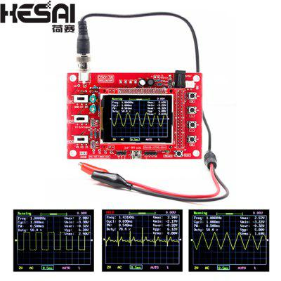 HESAI DSO138 Digital Oscilloscope Board TFT 1Msps Digital Oscilloscope Board Kit With P6100 Probe