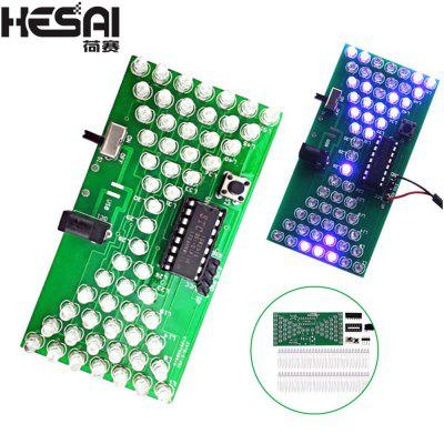 HESAI 5V Electronic Hourglass DIY Kit Funny Electronic Production Kits with LED Electronic Hourglass
