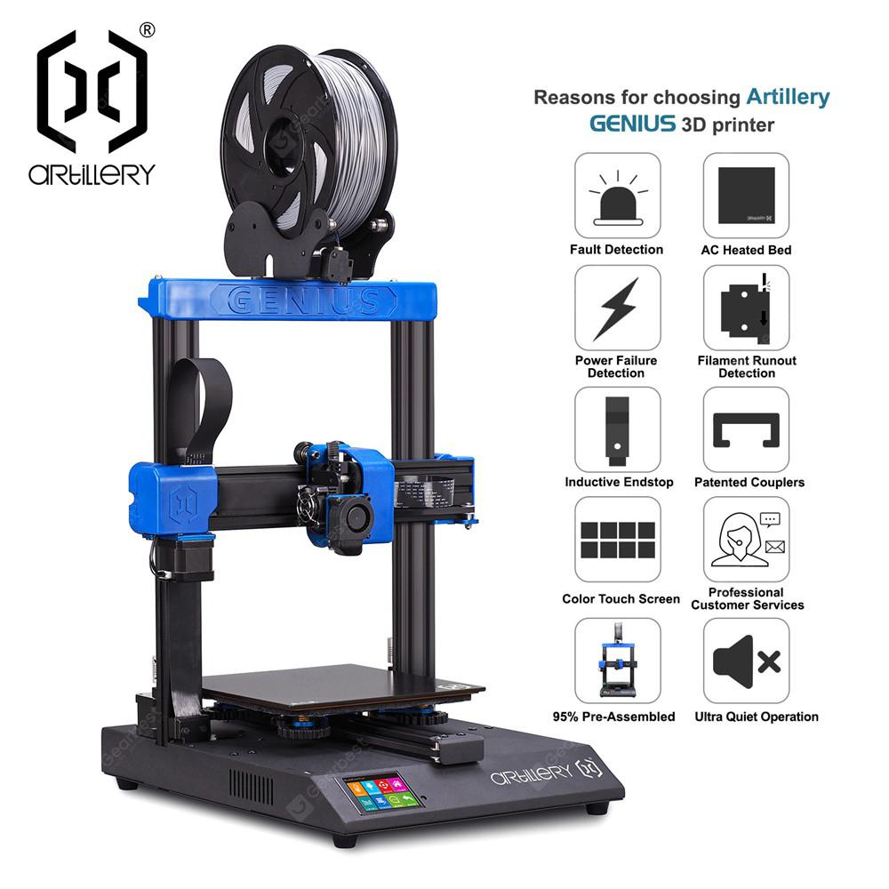 Artillery GENIUS 3D printer 220X220X250MM Large Plus Size High Precision Dual Z axis TFT Screen