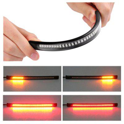 Flexible 48 LED SMD 2835 3014 Motorcycle Rear Tail Brake Stop Turn Signal Light strip Universal