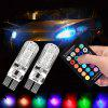 T10 5050 SMD RGB Car Width Lamp Remote Control Dome Reading Light 2Pcs