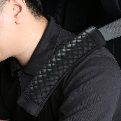 Car Seat Belt PU Leather Shoulders Pads Covers Cushion Safety Shoulder Protection Universal 2Pcs