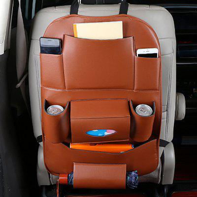 PU Leather Car Back Seat Storage Multi Pocket Bag Pocket Phone Pad Cup Holder Organizer