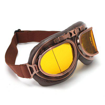Retro Motorcycle Goggles Glasses Moto Classic Sunglasses for Harley Pilot Steampunk Copper Helmet