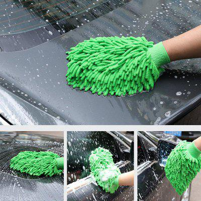 Car Wash Gloves Chenille Microfiber Mitt Brush Tools for Window Body