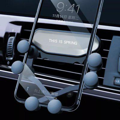 Upgrade Gravity Linkage Auto Lock Car Air Vent Phone Holder Stand Mount for iPhone Samsung HUAWEI